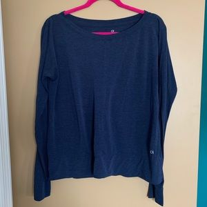 Gap Fit Size S Navy Blue Long Sleeve Top